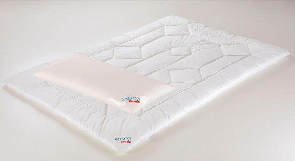 Microfaserbettdecke Microfaserkissen Set Holstein Duett Bw Paradies Extrawarm Material Fullung Polyester Online Kaufen Otto