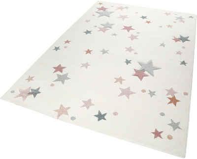 Kinderteppich »Jonne«, Esprit, rechteckig, Höhe 13 mm, Sterne in pastell Farben