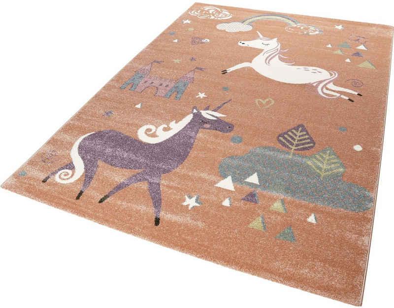 Kinderteppich »Sunny Unicorn«, Esprit, rechteckig, Höhe 13 mm