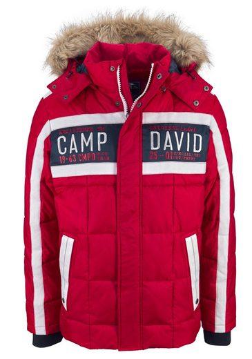 CAMP DAVID Steppjacke, mit vielen Details