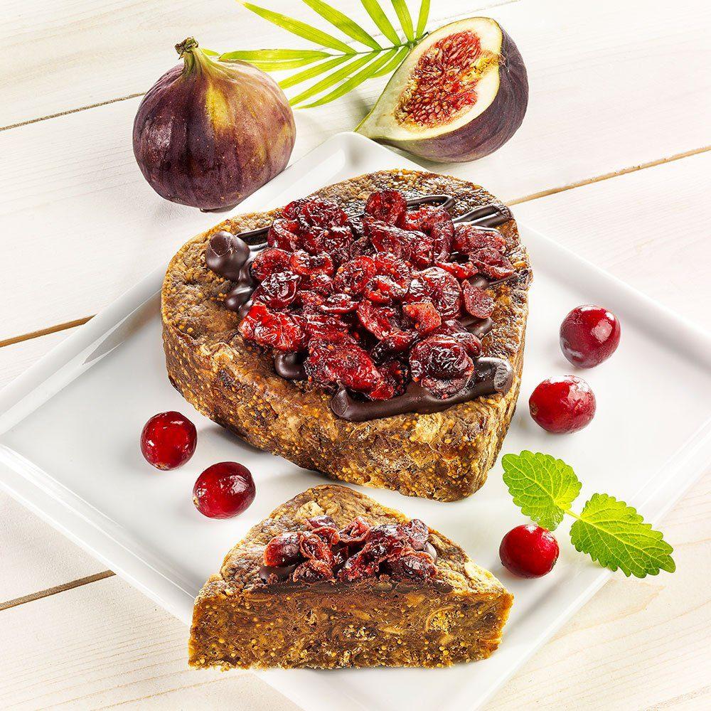 Feigenschnitte mit Schokolade und Cranberry Toppin