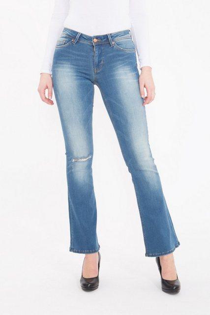 mexx -  Slim-fit-Jeans mit Schlag im Used Look