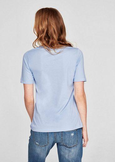 s.Oliver RED LABEL Basic-Shirt aus Jersey