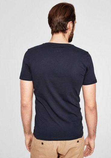 s.Oliver RED LABEL Jerseyshirt mit V-Neck