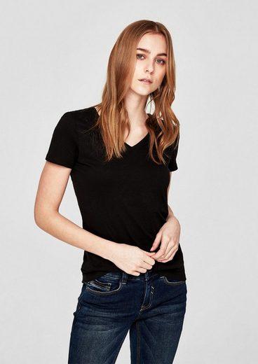 s.Oliver RED LABEL T-Shirt mit V-Ausschnitt