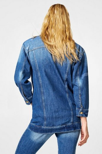 EDC BY ESPRIT Oversized Jeans-Jacke im Destroyed-Look