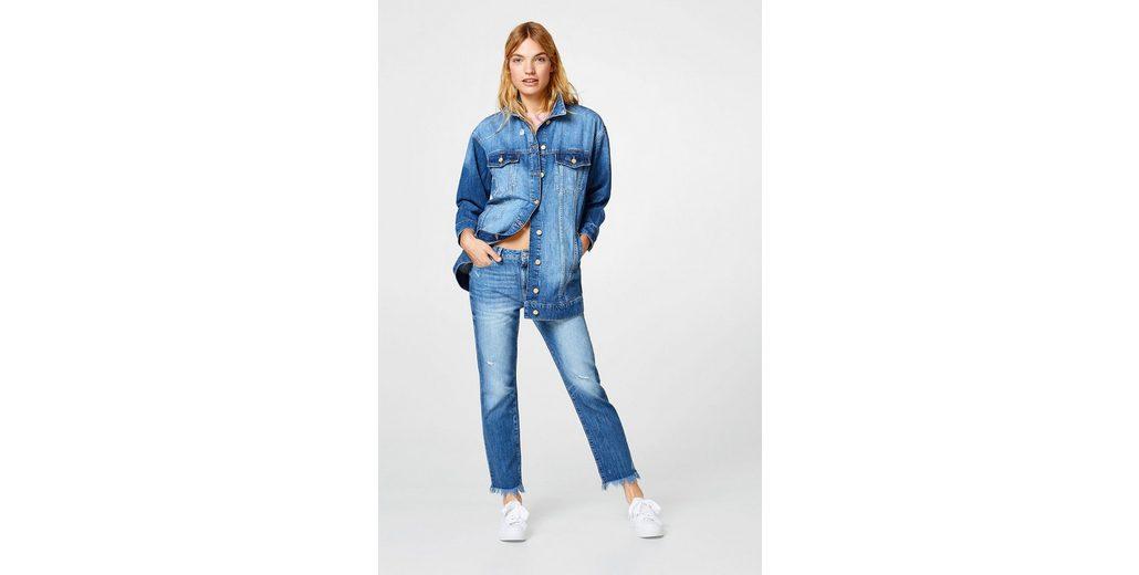 EDC BY ESPRIT Oversized Jeans-Jacke im Destroyed-Look Spielraum Eastbay JiN5lq
