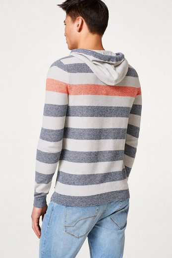 Edc By Esprit Structured Hoodie In Cotton-linen-mix