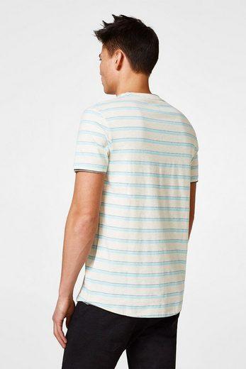 EDC BY ESPRIT Jersey-Shirt mit Jacquardstreifen