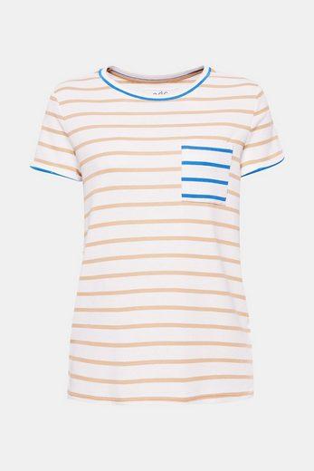 EDC BY ESPRIT Streifen T-Shirt aus Ripp-Jersey