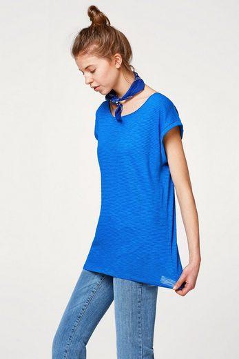 ESPRIT Luftiges Slub-Shirt mit Organic Cotton