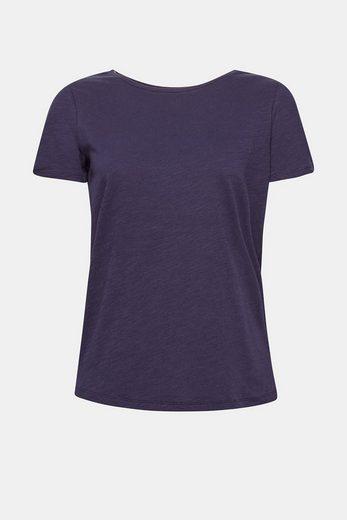 ESPRIT Softes Puffärmel-Shirt, 100% Baumwolle
