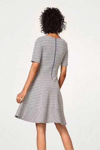 EDC BY ESPRIT A-Linie Kleid mit Muster-Streifen
