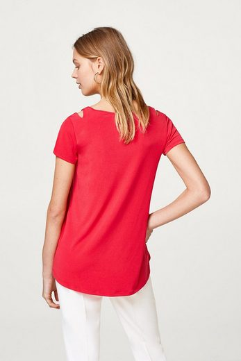 ESPRIT COLLECTION A-Line-Shirt mit Cut-Outs, Slinky/Stretch