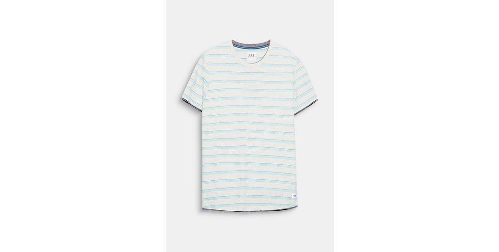EDC BY ESPRIT Jersey-Shirt mit Jacquardstreifen Billig Verkauf Finish Exklusiv Bulk-Design Spielraum Schnelle Lieferung Billigster Günstiger Preis ZCm8F8EuK