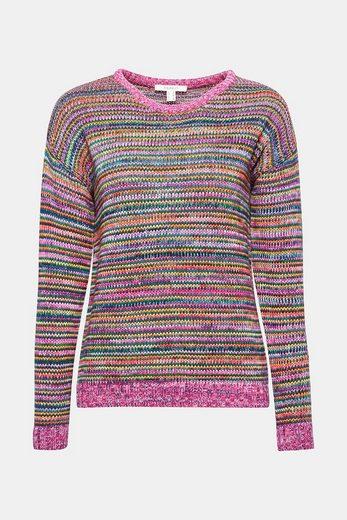 ESPRIT Sportiver Multicolor-Pullover aus 100% Baumwolle