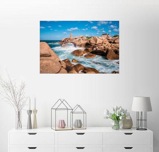 Posterlounge Wandbild - Rico Ködder »Atlantikküste in der Bretagne bei Ploumanac'h«