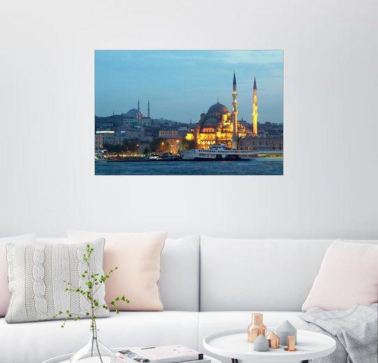 Posterlounge Wandbild »Neue Moschee (Yeni Cami) am Abend«