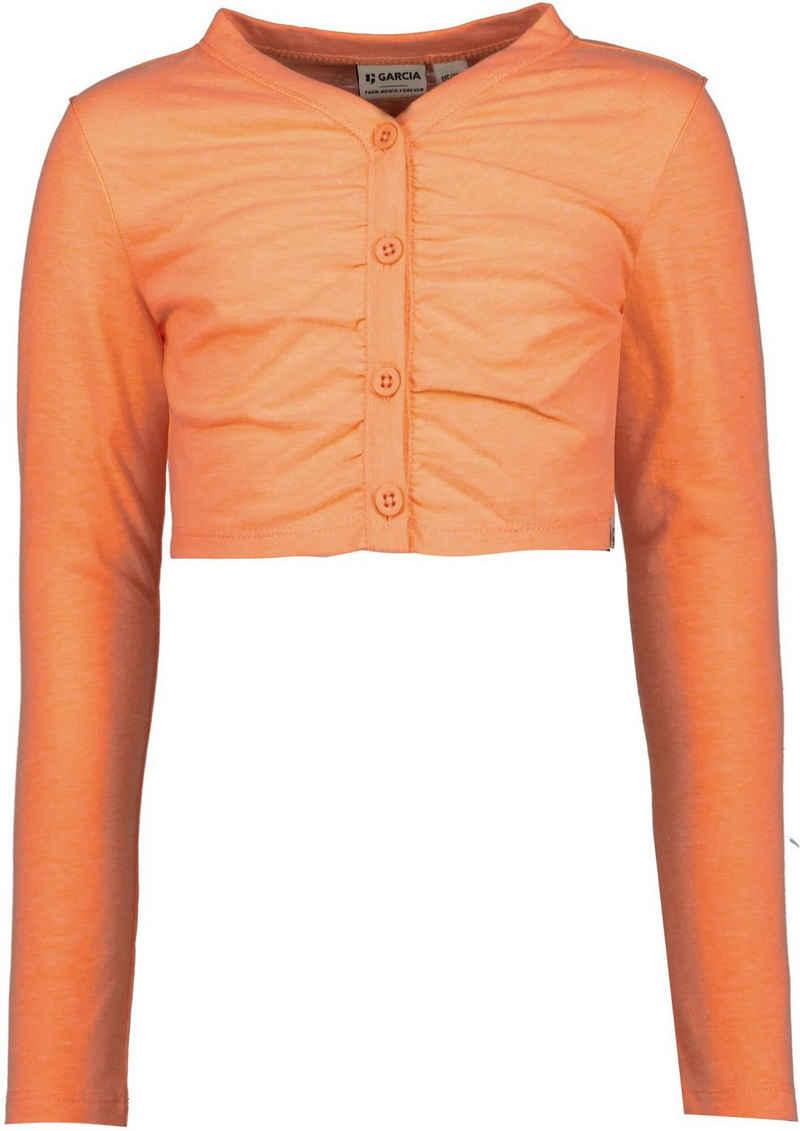 Garcia Strickjacke »D14651 - 6911-peach neon« mit V-Ausschnitt