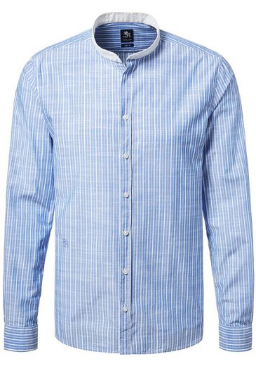 Chemise À Rayures Otto Avec Col Montant - Coupe Slim