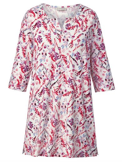 Janet Und Joyce By Happy Size Jersey-tunika Mit Allover-print