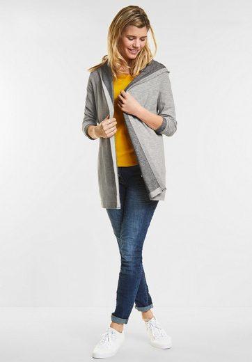 CECIL Lange Shirt Jacke mit Kapuze