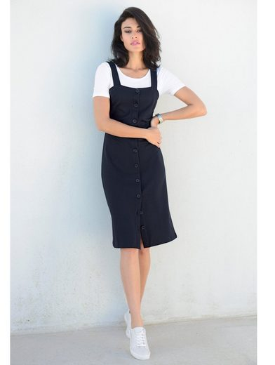 Alba Moda Jerseykleid mit Knopfleiste