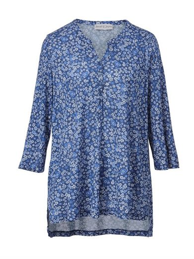 Janet And Joyce By Happy Size Jersey Tunic With Floral-print