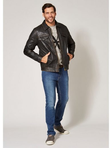 Men Plus by Happy Size Lederjacke