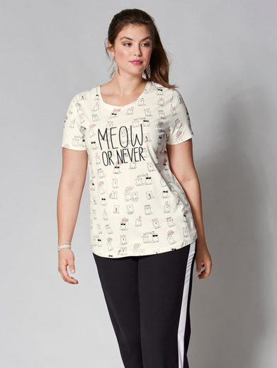 Angel of Style by Happy Size Shirt mit Allover-Print