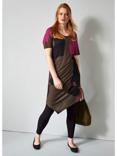 Sara Lindholm by Happy Size Slinky-Kleid mit Zipfelsaum
