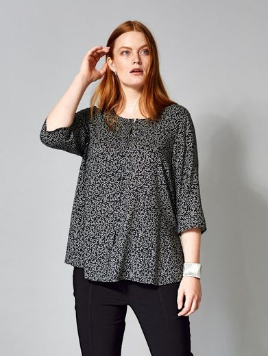 Sara Lindholm by Happy Size Bluse in leichter Oversize-Form
