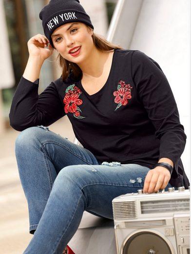 Angel of Style by Happy Size Shirt mit Stickerei