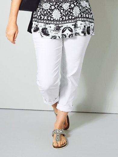 Janet und Joyce by Happy Size Slim Fit Jeans knöchellang