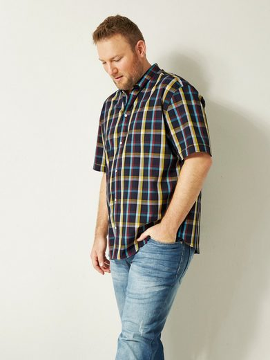 Men Plus by Happy Size Spezial-Bauchschnitt Karohemd