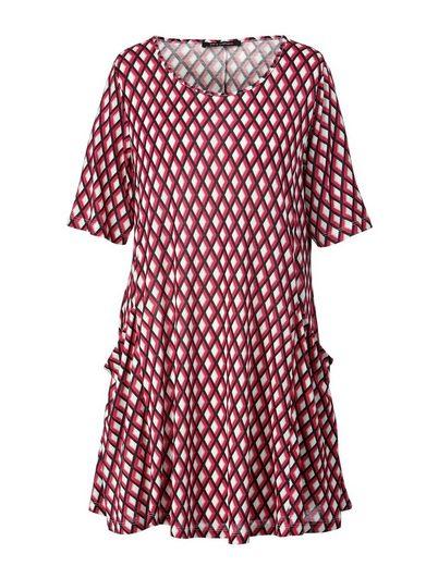 Sara Lindholm by Happy Size Jersey-Tunika mit Allover-Print