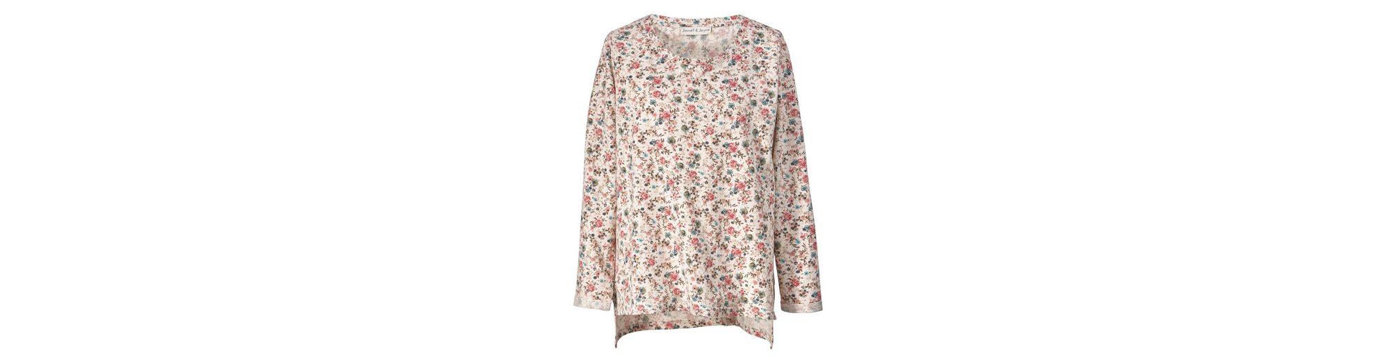 Verkauf Outlet-Store Janet und Joyce by Happy Size Vokuhila-Sweatshirt mit Blumen-Print Steckdose Billigsten Günstige Austrittsstellen UGZQpVSGbD