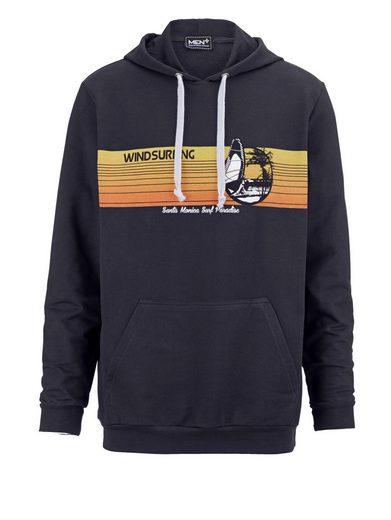 Men Plus by Happy Size Sweatshirt mit Kapuze und Surfer-Print