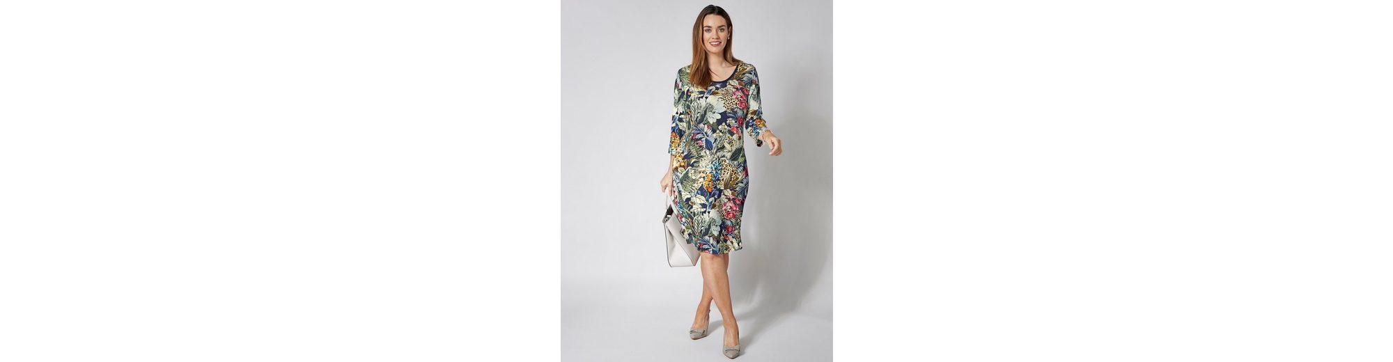 Sara Lindholm by Happy Size Kleid mit Blumen-Print Verkauf Online-Shopping 5KqFqbz