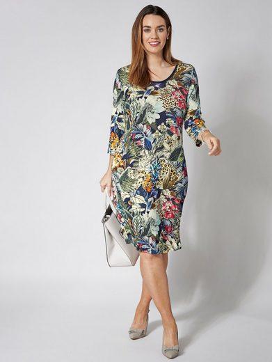Sara Lindholm by Happy Size Kleid mit Blumen-Print