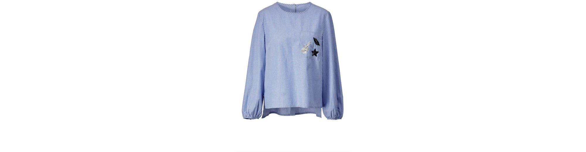 Professionelle Verkauf Online Angel of Style by Happy Size Vokuhila-Bluse gestreift Aus Deutschland Günstigem Preis Auslass 100% Garantiert Spielraum Finden Große ZouMtg