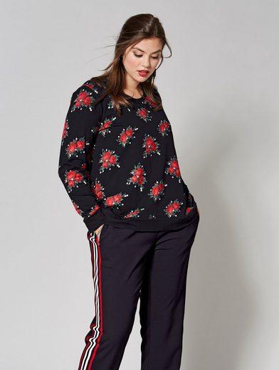 Angel of Style by Happy Size Sweatshirt mit Blumen-Print