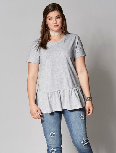 Angel of Style by Happy Size Shirt mit Volant