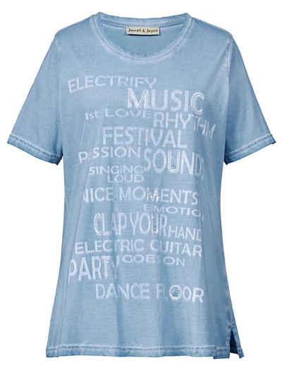 Janet und Joyce by Happy Size Shirt mit Pailletten 1185518e2f