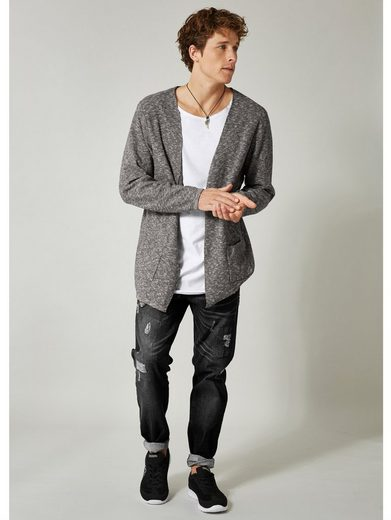 Men Plus by Happy Size Longstrickjacke