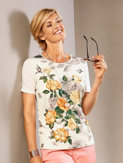Paola Shirt mit plazierterm Druckmotiv