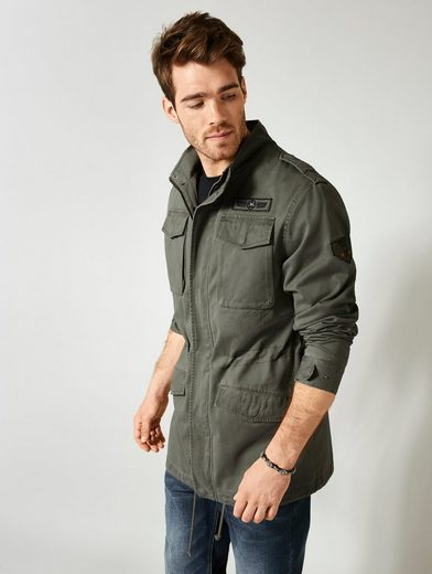 Men Plus By Happy Size Jacke Im Military-style Mit Patches