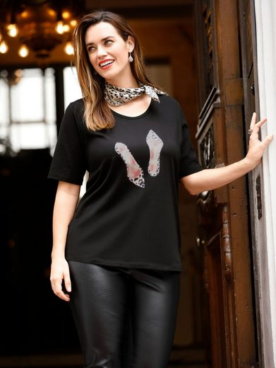 Sara Lindholm By Happy Size Shirt Mit Frontprint Und Strass