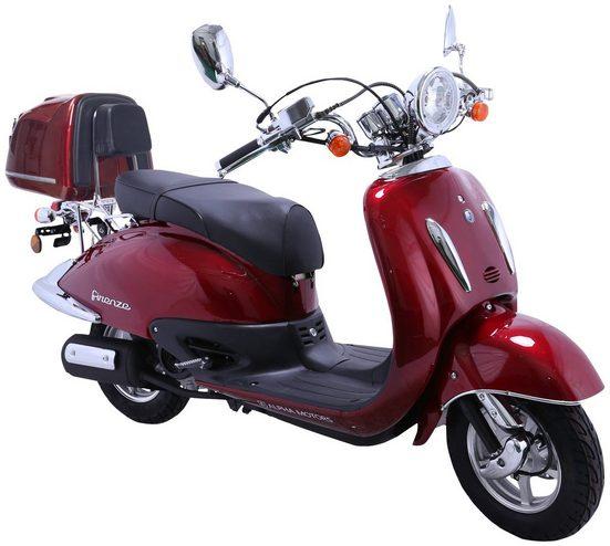 Alpha Motors Motorroller »Retro Firenze«, 50 ccm, 45 km/h, Euro 4, (mit Topcase), mit Topcase