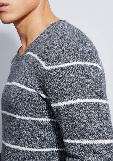 Otto Kern Rundhals Pullover mit feinen Streifen